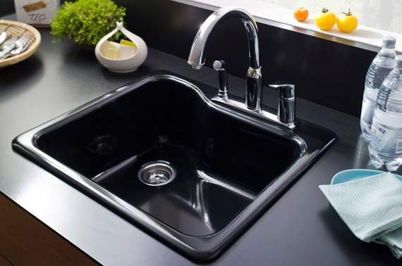 macatawa plumbing black kitchen sink solo